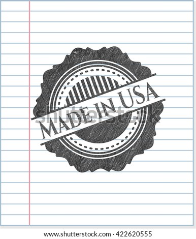 Made in USA pencil draw
