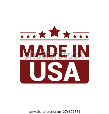 made in usa . red rubber stamp...
