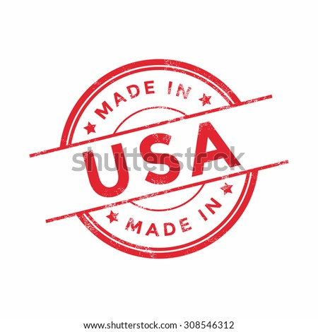 made in usa red vector graphic