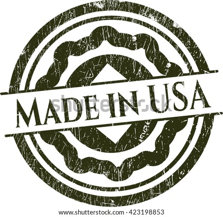 Made in USA rubber grunge seal