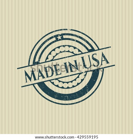 Made in USA rubber grunge stamp
