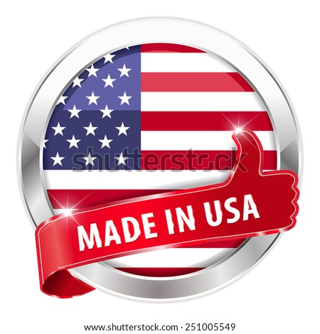 made in usa silver badge thumbs