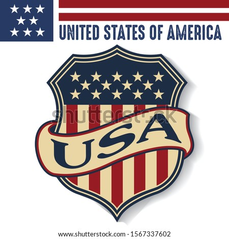 Made in Usa united states of america vector  Flag America Red and Blue Usa eagle USA vintage  USA national 16