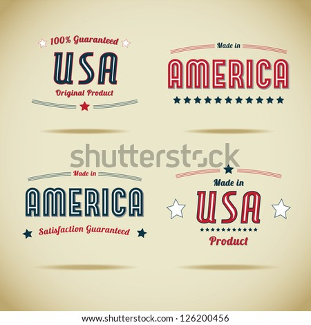 made in usa vector collection