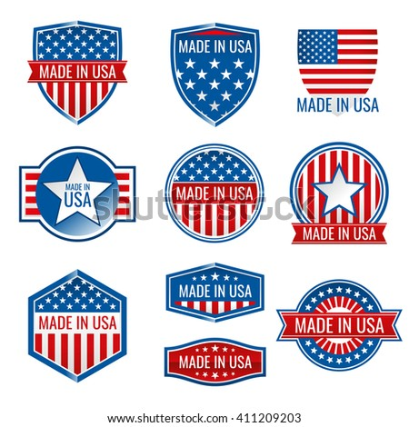 made in usa vector icons made