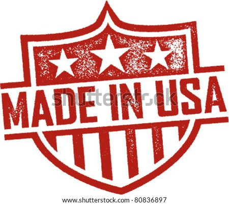 made in usa vintage shield...