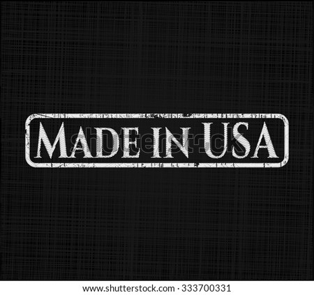 Made in USA with chalkboard texture