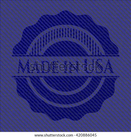 Made in USA with denim texture