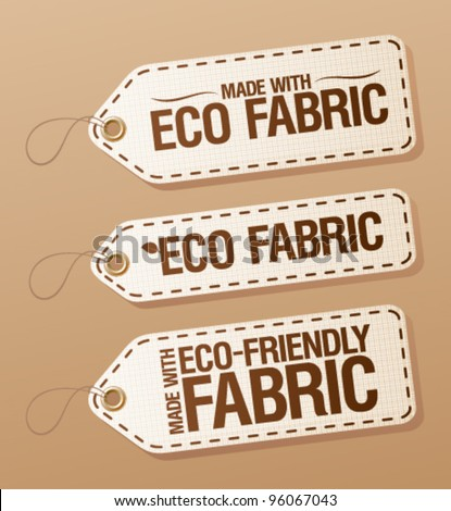 Made With Eco-friendly Fabric labels collection.