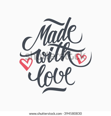 made with love handwritten