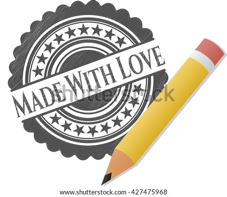 Made With Love pencil strokes emblem