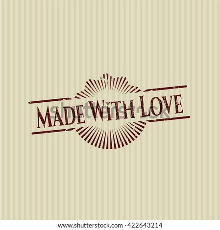 Made With Love rubber seal