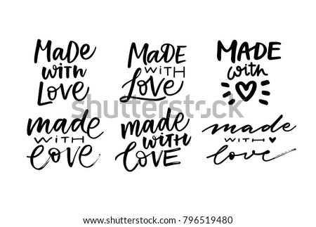 MADE WITH LOVE. VECTOR HAND  LETTERING