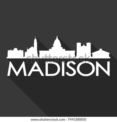 madison flat icon skyline
