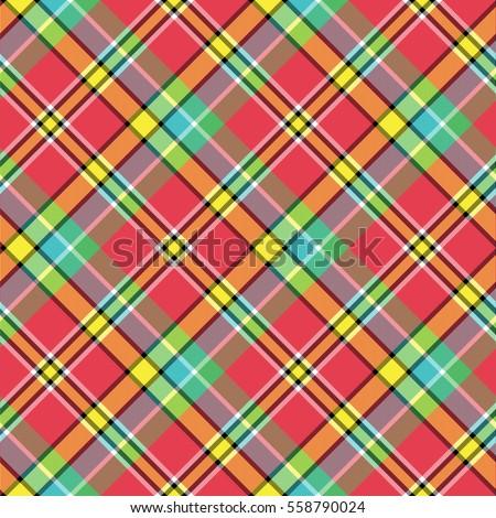 madras bright color tartan