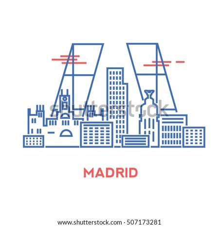 madrid city architecture retro