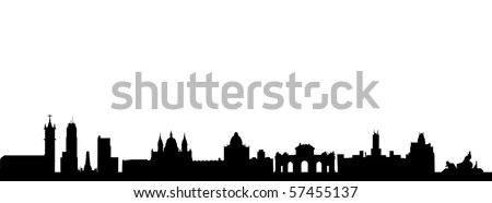 Madrid Skyline - stock vector