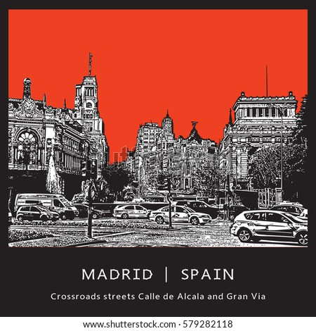 madrid  spain the famous