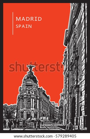 madrid  spain urban scene with