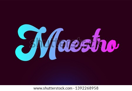 Maestro pink word or text suitable for card icon or typography logo design