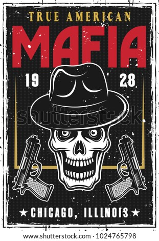 mafia and gangsters poster with