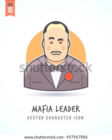 mafia boss illustration people