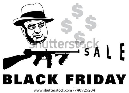 mafia boss with submachine gun