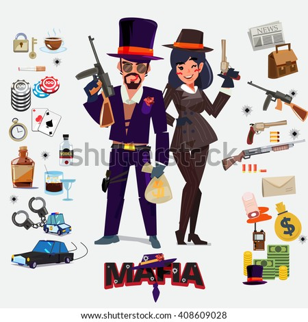 mafia character design  male