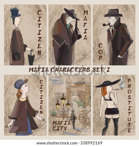 mafia city characters set