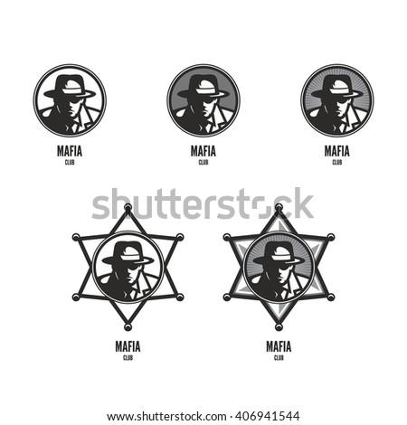 mafia club logo design template