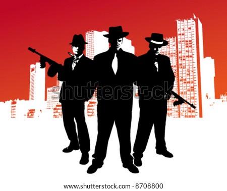 Mafia Gang - stock vector