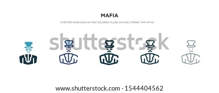 mafia icon in different style