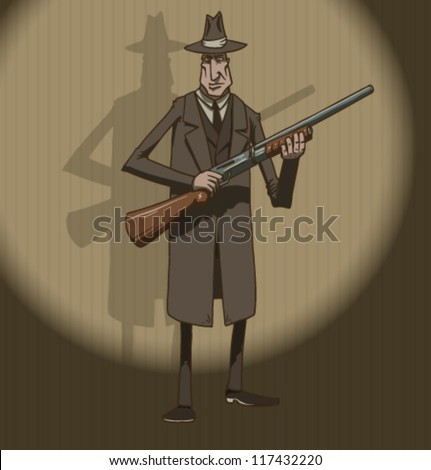 Mafia retro, vector 01