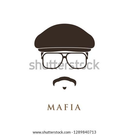 mafioso portrait isolated on