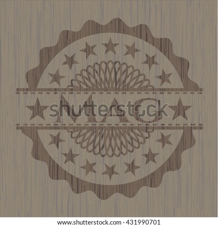 Mag badge with wooden background