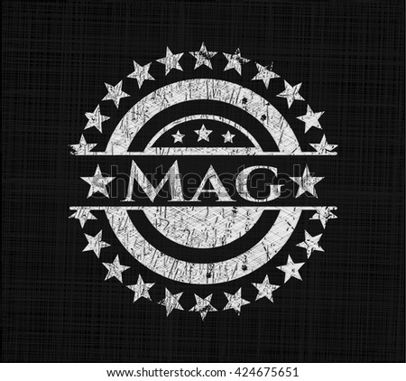 Mag chalkboard emblem written on a blackboard