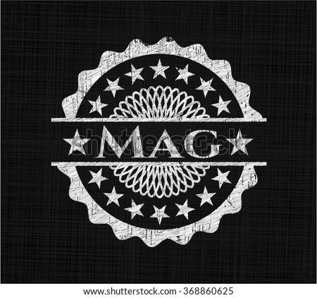 Mag on blackboard