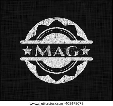 Mag on chalkboard