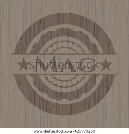 Mag wooden emblem. Retro