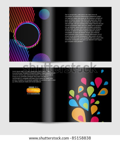 Magazine blank page abstract design template