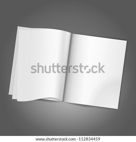 Magazine Blank Page background template. Vector illustration