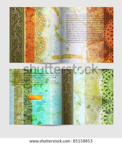 Magazine blank page vintage design template