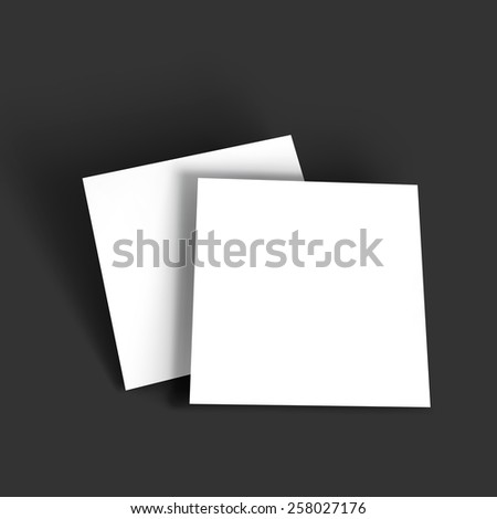 Magazine, booklet, postcard, business card or brochure mockup template. Vector Illustration EPS10.