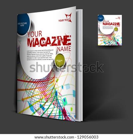 magazine cover layout design