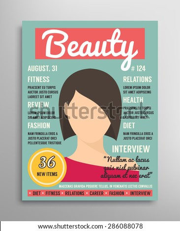 magazine cover template about