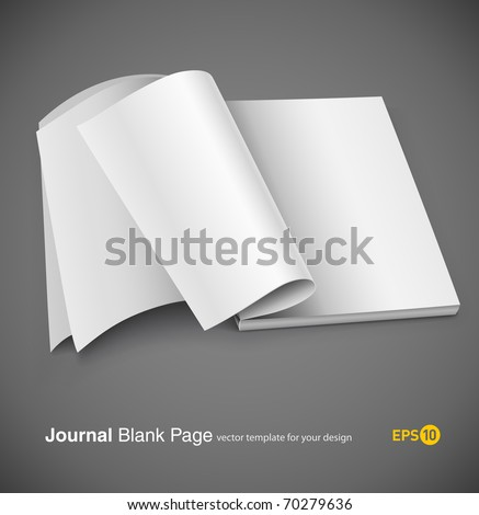 Magazine page with design layout. Vector illustration on gray background. eps10