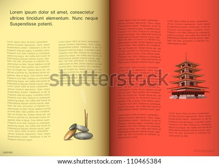 Magazine pages. Vector illustration