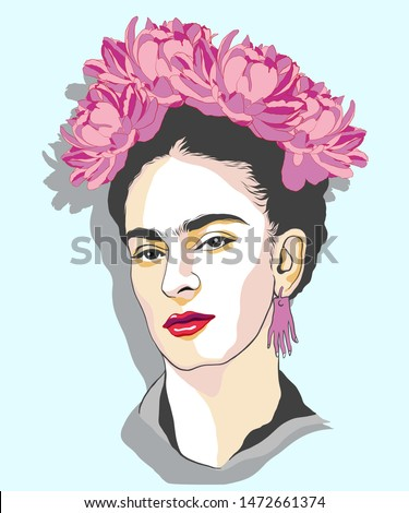 Magdalena Carmen Frida Kahlo born 6 July 1907  13 July 1954, was a Mexican artist who painted many portraits, self-portraits. She was married to Diego Rivera