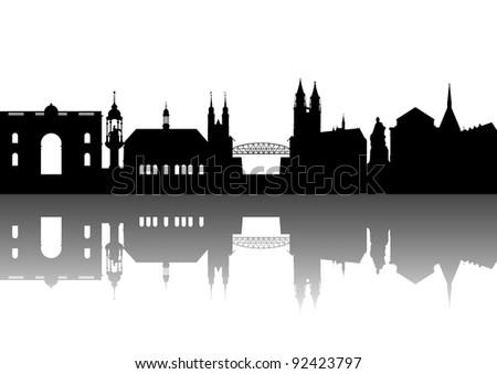 Magdeburg skyline abstract