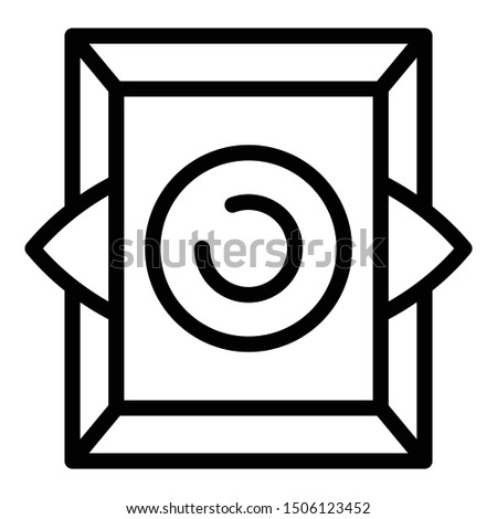 Magic alchemy icon. Outline magic alchemy vector icon for web design isolated on white background